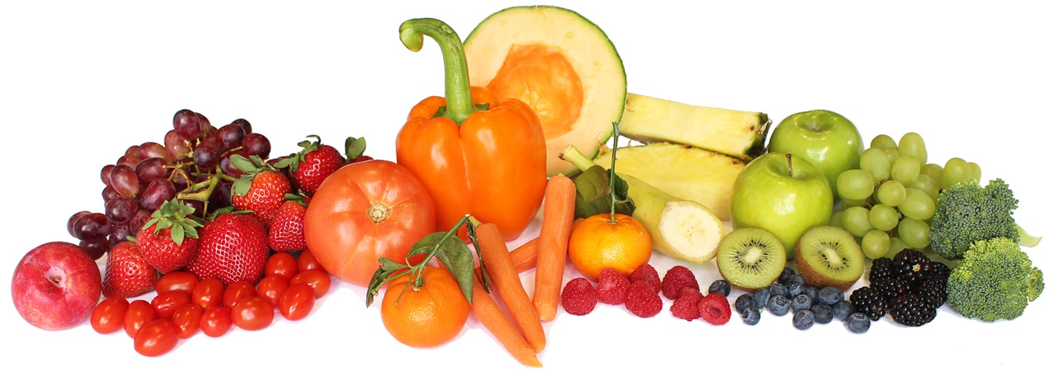 rainbow, fruit, vegetables, fresh, produce, strawberries, grapes, tomatoes, peppers, oranges, carrots, melons, raspberries, grapes, apples, kiwi, blueberries, broccoli, blackberries